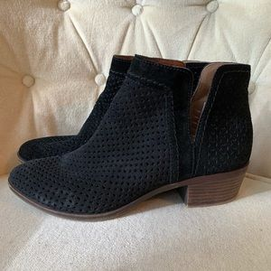 **LUCKY BRAND** Perforated Black Booties Size: 8.5
